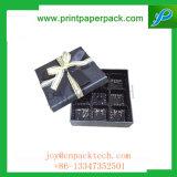 Caisse d'emballage rigide estampée par coutume et cadre de bijou exquis personnalisable de cadeau de couvercle