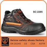 Zapatos de funcionamiento de acero industriales del fabricante de zapatos de seguridad del casquillo de la punta de la manera Sc-2285