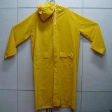 Желтый отражательный плащ PVC движения плащпалаты Rainwear (JMC-252K)