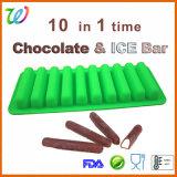 Cavidade 10 No-Spill Wholesales gelo de Silicone Aderente para garrafas de água da bandeja