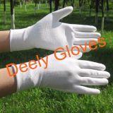 Pu Gloves Witte Palm Met een laag bedekte Handschoenen