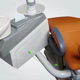 Unidad dental con precio unitario dental de cuero verdadero de la lámpara de detección del LED