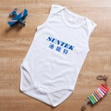 Sublimación bebé Onesie blanco ropa infantil de tela para bebés