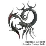 Decoração 26*22cm da tabela da ornamentação da HOME da faca do escorpião