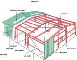 El proyecto de la estructura de acero y acanala los edificios de acero y la fabricación del acero de los bragueros del acero