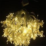 زاويّة خارجيّ عطلة [لد] عيد ميلاد المسيح زخرفة بيضاء ستار ضوء
