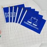 Bandierina su ordinazione della mano di campagna elettorale della Malesia