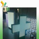 P10 de la cruz de doble cara pantalla LED de farmacia