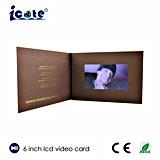 Fabrik-Preis für 6 Zoll-video Broschüre-/Videokarte im Druck