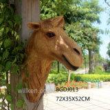 Oriente Medio la estatua de la cabeza del camello de estilo de decoración de pared