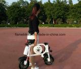 Bici elettrica piegata con la batteria di litio
