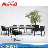 ألومنيوم حبل تصميم يتعشّى كرسي تثبيت وطاولة يتعشّى أثاث لازم محدّدة مناسبة لأنّ فندق مشروع