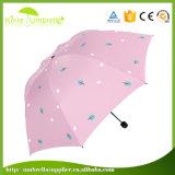 Pluie promotionnelle de parapluie fait sur commande/parapluie blanc de Sun pour Madame