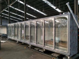 Congelador ereto comercial com a porta de vidro para o indicador dos alimentos Frozen