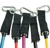 適性の抵抗は練習の管の伸縮性があるトレーニングの引きロープPilatesにバンドを付ける