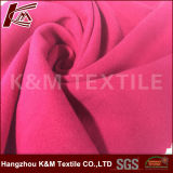 Tejidos de punto tricot en Color único cepillado tejido poliéster 100%