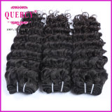 do cabelo profundo da onda do cabelo de 8A Quercy cabelo de trama do europeu de Remy do Virgin