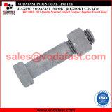 ISO 4014 DIN 931 boulon hexagonal avec la norme ISO 4032 DIN 934 écrous hexagonaux plaqué zinc