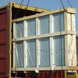Блок голубой решетки стеклянный для украшения