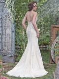 Com rebordo Strapless Suite Beca Lace Applique Mermaid vestido de casamento M201710