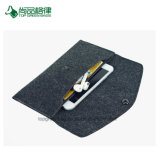 Couleur solide faite sur commande multi - sac de bourse de pièce de monnaie de tissu de feutre de bouton d'impression de logo de carte