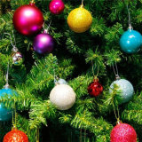 Ornamento los 3cm de la boda del partido de las chucherías de las decoraciones de las bolas de Navidad del árbol de navidad
