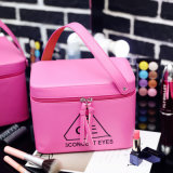 2017 nueva llegada de cuero de PU de equipaje de mano de la bolsa de maquillaje cosmético