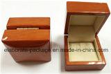 Vendas por atacado de madeira de borracha lustrosas elevadas da caixa da embalagem/presente da jóia