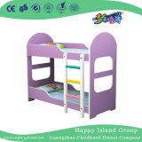Comfortabele Peuter Twee van de Lavendel Bed van de School van de Verdieping het Houten met Trede (Hg-6509)