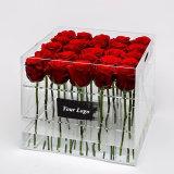 Rectángulo de acrílico excelente de la flor para el rectángulo de empaquetado de Rose