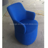 바퀴를 가진 로비를 위한 덮개를 씌운 직물 여가 단 하나 의자