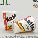 Kundenspezifisches Weißbuch-Cup mit Firma-Firmenzeichen
