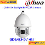 Dahua 60fps a 1080P 40X zoom de 2MP cámara IP PTZ Starlight SD6AE240V-Hni