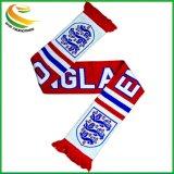 La impresión de satén de poliéster de equipo deportivo de la Copa Mundial de los aficionados al fútbol de promoción de la bufanda