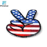 Kundenspezifische Großhandelshandgeformte USA-Markierungsfahnen-Änderung am Objektprogramm