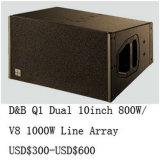 700W Serie van de Lijn van de Hoge Macht van 10 Duim van het Neodymium van Qsn de Dubbele Q1 Audio
