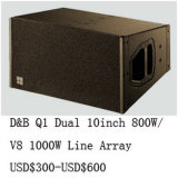 800W Serie van de Lijn van de Hoge Macht van 10 Duim van het Neodymium van Qsn de Dubbele Q1 Audio