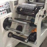 320 mm de Etiqueta Adhesiva pequeño rollo rebobinadora cortadora longitudinal con torreta