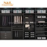 Cabinet de plain-pied de garde-robe en bois de forces de défense principale de la porte coulissante cpc de N&L
