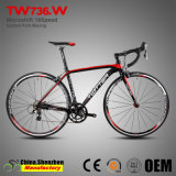 700c 18Aluminium de vitesse de vélos de course avec fourche en fibre de carbone