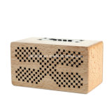 Drahtloser Minilautsprecher Hifi StereoSubwoofer hölzerner Bluetooth Lautsprecher