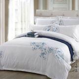 ホテルのコレクション200の糸のカウントの綿によって刺繍されるベッド・カバー
