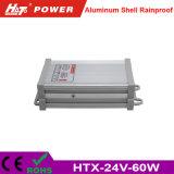 alimentazione elettrica Rainproof di 24V 2.5A LED con le Htx-Serie di RoHS del Ce
