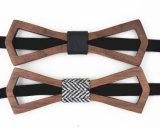 Ecológica barato con pajarita ganchos y correas de madera de la moda legítima Corbata Pajarita