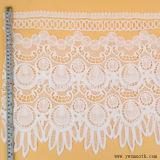 La cosse à oeillet de gros tricot dentelle Tissu de coton de bande d'accessoires du vêtement