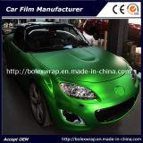 Verde de cromo mate caliente vender coche de la película de hielo de Vinilo adhesivo de envoltura de 1,52m de ancho