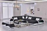 Sofá do divã da sala de visitas do couro genuíno de projeto moderno de China