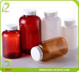 Bottiglia di plastica dell'animale domestico con la protezione di plastica