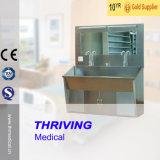 ThrSs027医学のステンレス鋼は2人のための流しをごしごし洗う