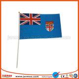 bandierina nazionale della mano dei bastoni di plastica di pollice 8X12 mini
